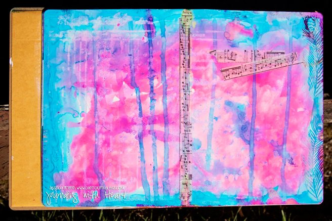 DWPin1 Jessica Griffin Pinterest challenge heart art journaling