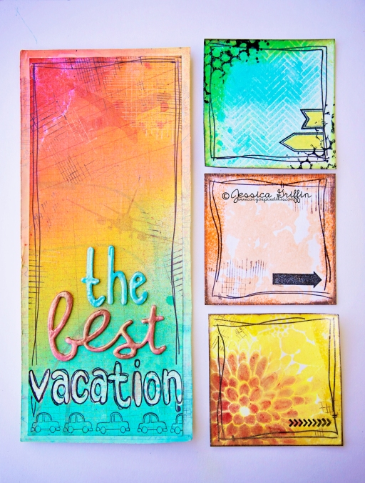 lindys stamp gang basic grey glue dots blog hop travel vacation journal