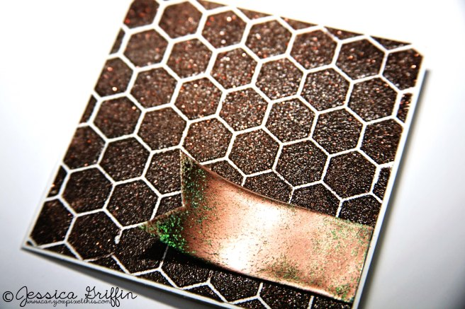 Brown Card hexagon stampendous dreamweaver stencils