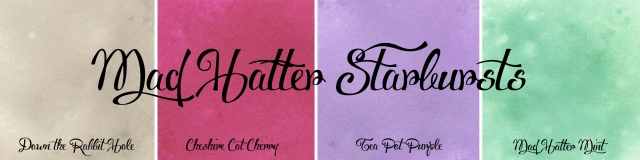 Mad Hatter Starbursts Lindy's Stamp Gang Shimmer Glimmer two tone spray
